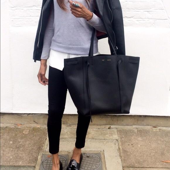 977257b7f614 Celine Handbags - Celine Large Phantom Cabas Tote - Black with belt